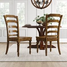 Hooker Furniture Treviso 7 Piece Extendable Dining Set & Reviews | Wayfair Dining Table Legs, Solid Wood Dining Chairs, Upholstered Dining Chairs, Dining Chair Set, Dining Room, Furniture Update, Hooker Furniture, Traditional Dining Tables, Wood Ladder