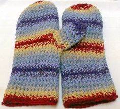 Crocheted Mittens By Spooner 1133 by TheSecurityBlanketCo on Etsy, $50.00