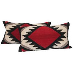 Amazing Pair of Navajo Indian Weaving Pillows