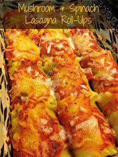 Mushroom & Spinach Lasagna Roll-Ups