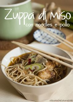 Miso soup with noodles and chicken .- Miso soup with noodles and chicken … and a tip for those who don't want to cook! Ramen Recipes, Chicken Salad Recipes, Veggie Recipes, Wine Recipes, Asian Recipes, Healthy Dinner Recipes, Vegetarian Recipes, Cooking Recipes, Recipies