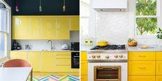 Elle Decor, Kitchen Cabinets, Instagram, Home, Kitchen Dining, Kitchen Furniture, Kitchens, Kitchen Yellow, Decorating Tips