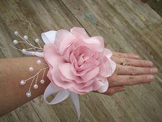 Sale Sweet satin flower wedding corsage boutonnieres  by darlyndax, $16.00
