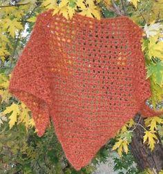 The Left Side of Crochet: One Skein Basic Filet Shawl