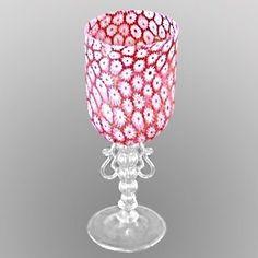 murano wine glasses | murano glassware~dainty flowers :-)
