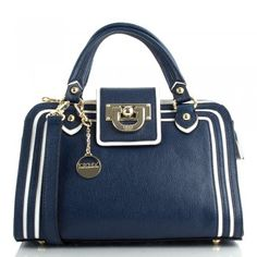 DKNY R1314106 Navy Leather Heritage Vintage Top Women's Bag