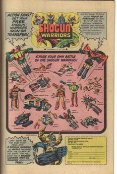 Shogun Warriors  Comic Book Ad.