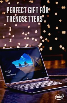 The HP Spectre 13* is one of the world's thinnest laptops at just 10.4 mm. Couple that with its light weight, backlit keyboard and cutting-edge cooling system, this sleek laptop is the perfect gift for the trendsetter in your life. Powered by the 7th Generation Intel® Core™ processor, this laptop will see them through any task or trip in style.