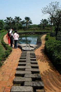Taiwanese sculptor Ju Chun created this Zipper Lotus Pond for the Juming Museum, outside Taipei, Taiwan.