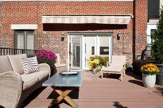 Terraço do apartamento de Anne Hathaway, em NY (Foto: Reprodução)