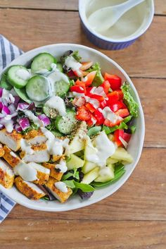 This Thai Curry Chicken Salad Bowl is bright, fresh, flavorful and perfectly satisfying