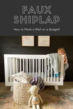 Have you ever wanted to get the look of shiplap without spending a lot of money? If you like the look of shiplap or just adding texture to a wall, we are going to show you how we planked a wall in a day and on a budget! Sandi had already done faux shiplap in her kitchen and living room, so she had previous experience. #Shiplap #FauxShiplap #PlankWall Cheap Office Decor, Cheap Home Decor, Farmhouse Decor, Cottage Farmhouse, Farmhouse Ideas, Modern Farmhouse, Faux Shiplap, Decor Logo, Trim Work