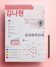 02 자기소개서 인포그래픽 / Infographic self-introduction - 그래픽 디자인 · 일러스트레이션, 그래픽 디자인…