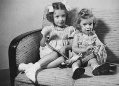 Eva and Leana Munzer    These two little Jewish girls have a very sad story. Their parents left them with a non-jewish family who took care of them. Then the husband and wife had a fight and the husband betrayed them to the SS, who captured the girls and sent them to Auschwitz, where they - like most small children - were gassed upon arrival.  Their little brother, Alfred, however, survived. @ Judith Land