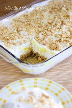 Mandy's Recipe Box: Lemon Heavenly Oreo Dessert... This would be great with the chocolate Oreo's and chocolate pudding too, kinda like our Party dessert. :)