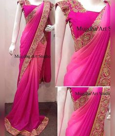Checkout this pink Georgette Saree . . DS NO. : NX-219 PALLU /SCUTT : PADDING GEORGET BLOUSE : BENGLORI SILK WORK : THREAD FANCY WORK TYPE : SAREES . . Price : 1600 INR ONLY !! #shopnow  Book Order On WhatsApp :+91 9054562754