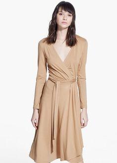 Φόρεμα κρουαζέ με φιόγκο | MANGO