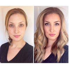 Younique before and after using all Younique products. Here's how: Glorious Primer & Powder foundation in Taffeta Eyes: top eyeliner:pencil in Perfect waterline: pencil in Pristine 3D fiber lash mascara Blushers: Seductive Lips: lined with precision pencil in Pouty topped with lucrative lip gloss in Luxe #younique https://www.youniqueproducts.com/lashestothemax/products/view/US-1017-00#.VQeFceFjpaY