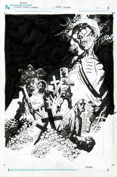 Hellboy - B.P.R.D.: Pickens County Horror cover by Mike Mignola *