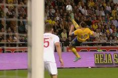 Zlatan Ibrahimovic amazing bicycle kick against England #golazo