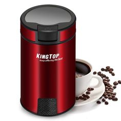 ThisStainless Steel Coffee Grinder is an excellent addition to any coffee lover's kitchen. TheStainless Steel Coffee Grinder has a stainless steel cover with a transparent lid to monitor the grinding performance. Travel Mug, Spices, Herbs, Stainless Steel, Stuffed Peppers, Good Things, Mugs, Coffee, Tableware