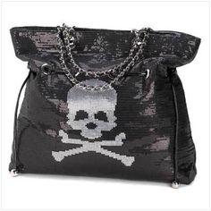 JOSH PRODUCTS, LLC - Jolly Roger - Spangled Skull Bag, $211.19 (http://www.joshproducts.us/fashion/handbags-purses/tote-bags/jolly-roger-spangled-skull-bag/)