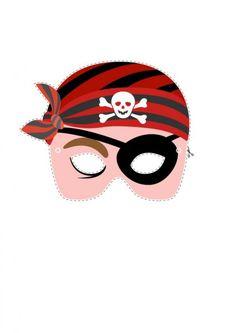 Pour votre petit pirate, voici un joli masque à découper! Il sera parfait pour un goûter d'anniversaire, mardi gras ou carnaval!
