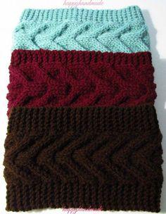 Knitted EarWarmer or Headband Pattern Knitting EarWarmer or Headband Pattern Loom Knitting, Knitting Patterns Free, Knit Patterns, Free Knitting, Knit Headband Pattern, Crochet Headbands, Baby Headbands, Knitting Accessories, Knit Or Crochet