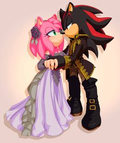 Commission: Shadow and Amy by Shadow And Amy, Sonic And Shadow, Shadow The Hedgehog, Sonic The Hedgehog, Shadamy Comics, Best Pictures Ever, Sonic Fan Characters, Sonic Fan Art, Miraclous Ladybug