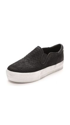 Scale-embossed nubuck slip-on.  Wear with #CAbi Skinny Tech Pant and Swathe Skirt.