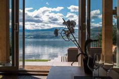 Planning your vacation in BC Wine Country? Check out these 11 wineries with on-site accommodation - Vancouver Is, Okangan and Similkameen Vacation Places, Dream Vacations, Casual Decor, River Stones, Green Trees, Lake View, Wine Country, Perfect Place, Countryside