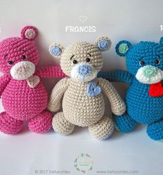We are glad to present you Tarturumies' newest amigurumi toy design the huggable sweetheart bears! These super adorable crocheted little bears with a small heart patch is absolutely in the right size to be a perfect super adorable huggable doll for kids. This ...