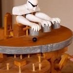 Manually Cranked Wood Toy Performs Sleight-of-hand Magic