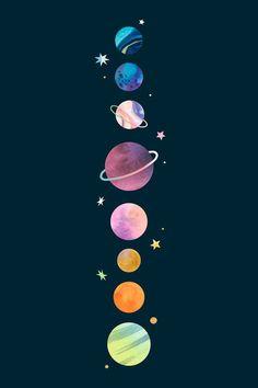 Space Phone Wallpaper, Planets Wallpaper, Iphone Background Wallpaper, Dark Wallpaper, Cartoon Wallpaper, Aztec Wallpaper, Cute Galaxy Wallpaper, Wallpaper Samsung, Kawaii Wallpaper