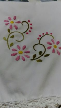 Monogram Embroidery Near Me their Embroidery Designs Iron On Transfers over Embroidery Thread Holder Hand Embroidery Patterns Flowers, Hand Embroidery Flowers, Hand Embroidery Tutorial, Embroidery On Clothes, Embroidery Works, Simple Embroidery, Hand Embroidery Stitches, Hand Embroidery Designs, Vintage Embroidery