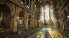 Pin by Heather Logan on God is water to my soul Fantasy landscape Fantasy places Fantasy city