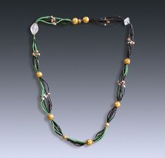 Necklace from the tomb of Han Farong, the wife of Magistrate Cui Zhen, Northern Wei dynasty, China. Dates to ca. 550 CE. Nearly 5,000 tiny beads. While the thread of the necklace had decomposed, the beads were still in their original location and archaeologists were able to reconstruct the necklace.
