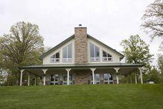 Eugene & Kathy's Home » Morton Buildings » 3399... wrap around porch that wont fall apart.