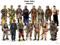 """The German Heer, or army, was formed in May of It was formed after the passing of the """"Law for the Reconstruction of the National Defense Forces"""". This law brough back into exista… Military Weapons, Military Art, Military History, Military Ranks, Luftwaffe, Ww2 Uniforms, German Uniforms, Military Uniforms, German Soldiers Ww2"""