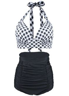 Plaid Open Back Swimwear Bra and Ruched Shorts on sale only US$28.17 now, buy cheap Plaid Open Back Swimwear Bra and Ruched Shorts at liligal.com #style#swimsuit#womensfashion