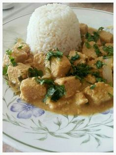 Coconut lime and coriander quorn curry. Made this with basil instead of cilantro and added grape tomatoes. Wonderful!
