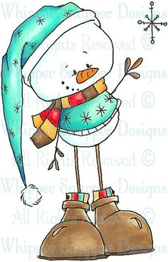Discover thousands of images about Beckham - Snowmen Images - Snowmen - Rubber Stamps - Shop Christmas Rock, Christmas Snowman, Winter Christmas, Christmas Time, Christmas Ornaments, Xmas, Merry Christmas, Christmas Drawing, Christmas Paintings