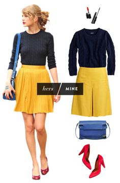 """Love bright bottoms, and this bloggers """"Hers/Mine"""" series!"""