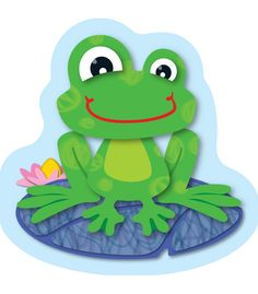 FUNky Frogs Mini Cut-Outs - Use for them for sorting activities, game pieces, calendar activities, brighten up cubbies, and much more!