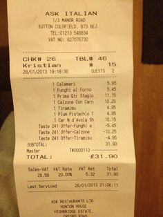 2-4-1 at Ask Italian in Sutton Coldfield....a FREE 3 course meal worth £20.65!