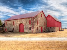 This is the barn on the England Farmstead in Shawnee county Kansas. Its actually a couple of barns built together. Unfortunately, from this angle you can not see the top of a silo that sets behind. They completed a restoration a couple of years a