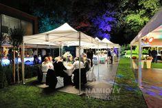 Ekskluzywne wesele plenerowe pod namiotami w ogrodzie