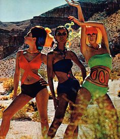 Mod designer swimsuits, 1967
