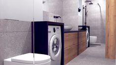 Minimalistyczna łazienka w szarościach - Washing Machine, Laundry, Home Appliances, Laundry Room, House Appliances, Kitchen Appliances, Laundry Service, Washers, Appliances