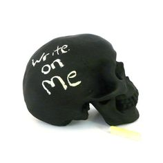 Chalkboard Skull - $28.00 | 21 Christmas Gift Ideas For The Goth In Your Life